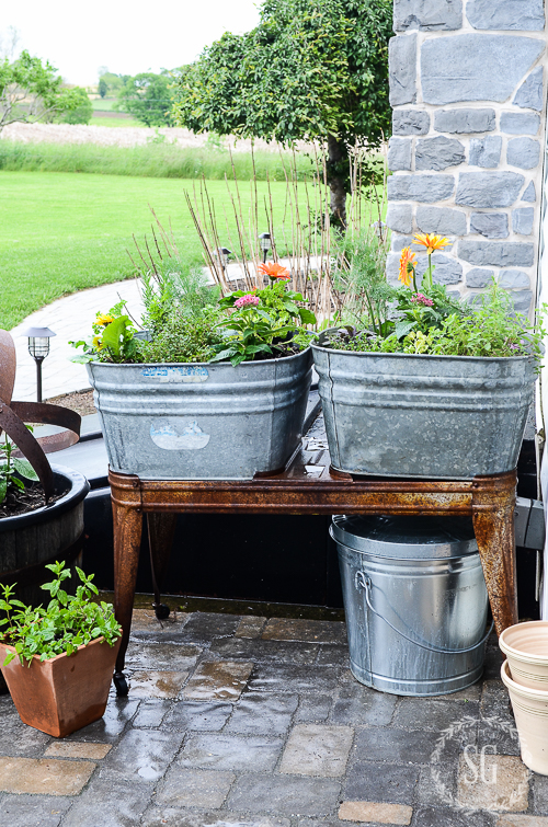 HOW TO MAKE A KITCHEN HERB GARDEN- Step-by-Step easy instructions for herbs right outside your door all summer long!