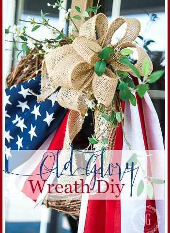 OLD GLORY WREATH DIY