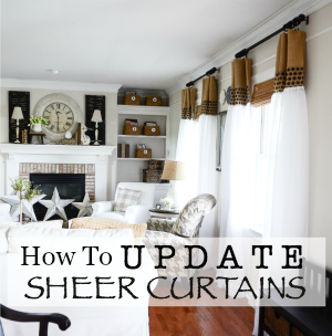 How To Update Sheer Curtains An Easy Diy Stonegable,One Bedroom Apartments In Northern Va