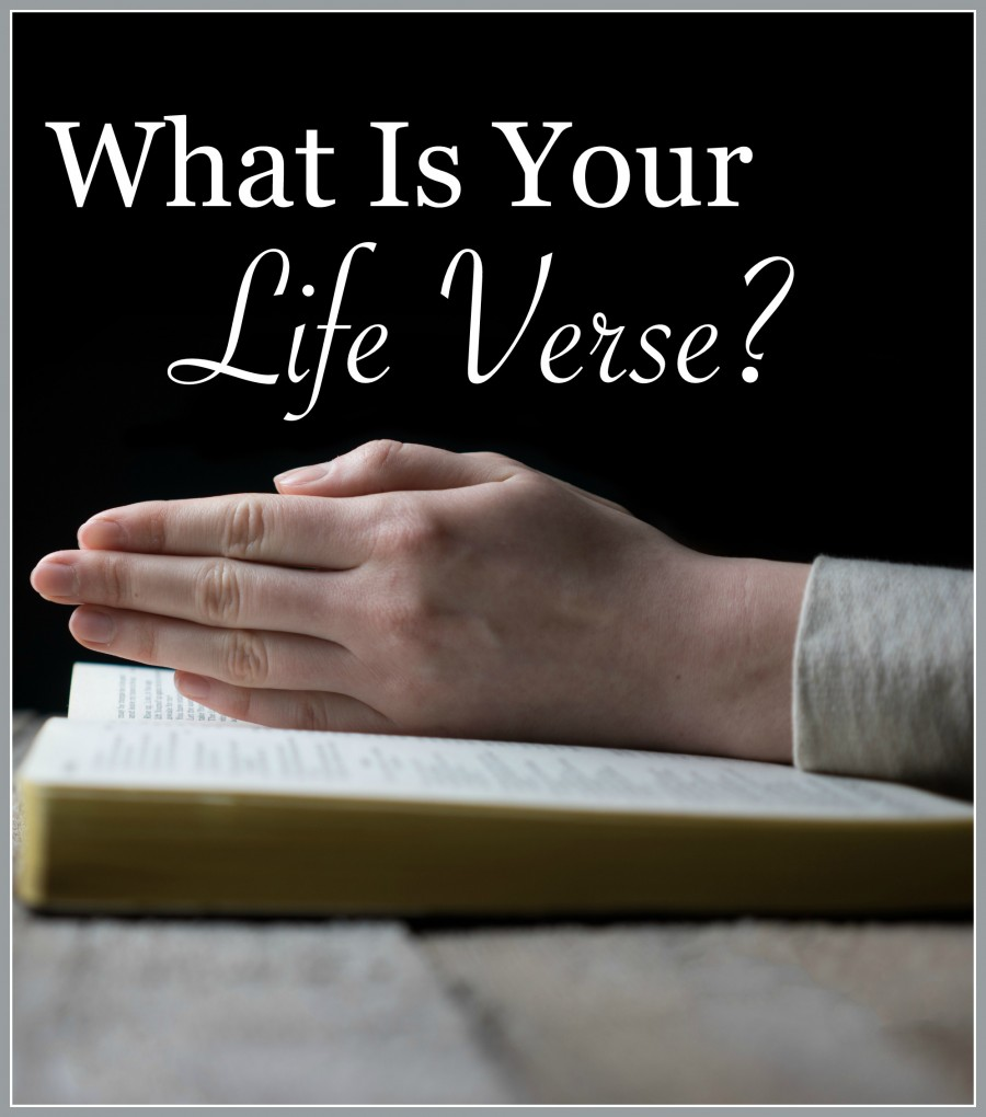 WHAT IS YOUR LIFE VERSE-Do you have a Bible verse where God speaks right into your heart?