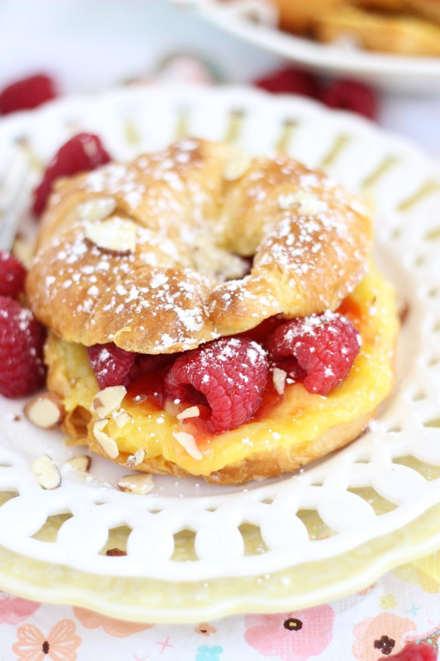 lemon-raspberry-almond-croissant-french-toast-4