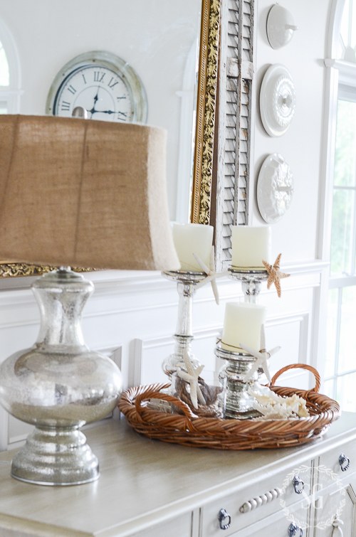 10 MINUTE BEACHY DECOR- A QUICK AND UPSCALE WAY TO DECORATE FOR SUMMER!