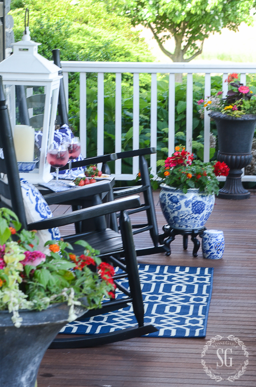 BRIGHT AND BOLD FRONT PORCH SITTING-hot-pink-flowers-stonegableblog.jpg