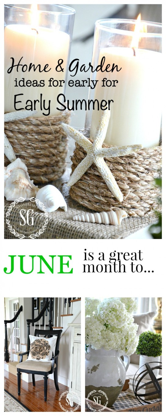 JUNE IS A GREAT MONTH TO- Here's a list of amazing home and garden things to do in June! And lots of inspiration!