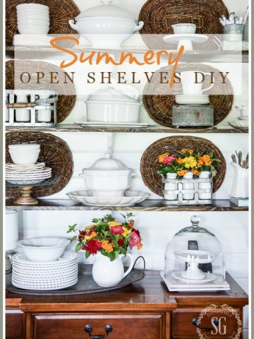 SUMMERY OPEN SHELVES DIY