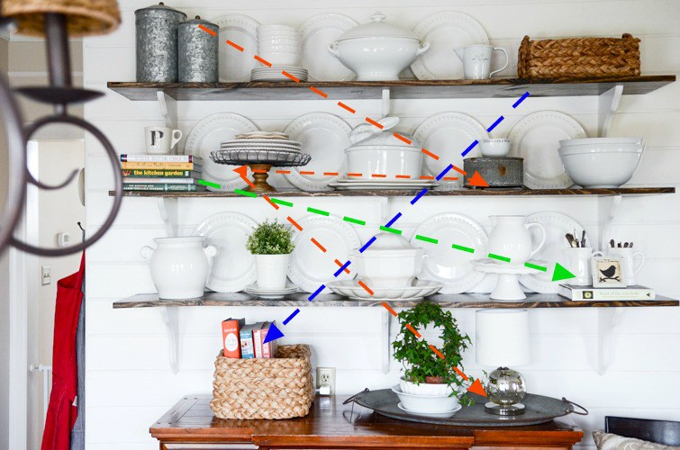 TIPS-FOR-STYLING-OPEN-SHELVES-horizontal-balance-kitchen-wares-stonegableblog-4