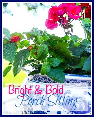 bright and bold summer porch sitting-stonegableblog.com