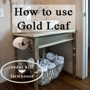 1- CEDAR HILL FARMHOUSE how-to-gold-leaf