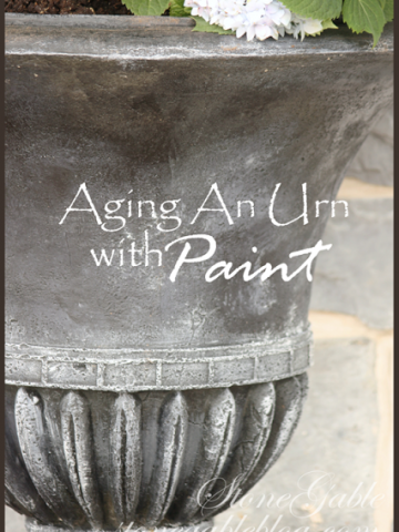HOW TO AGE AN URN WITH PAINT