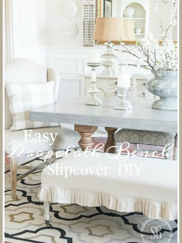 EASY DROPCLOTH BENCH SLIPCOVER