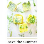 CUBES OF FROZEN HERBS IN OLIVE OIL
