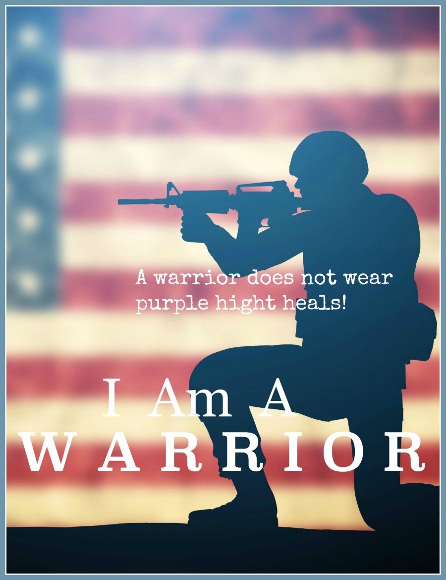 """I AM A WARRIOR-To stand firm against our adversary we must wear the right """"footwear!"""