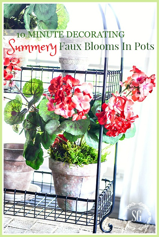 SUMMERY FAUX BLOOMS-Create a pretty pot of faux blooms for your home in just 10 minutes!