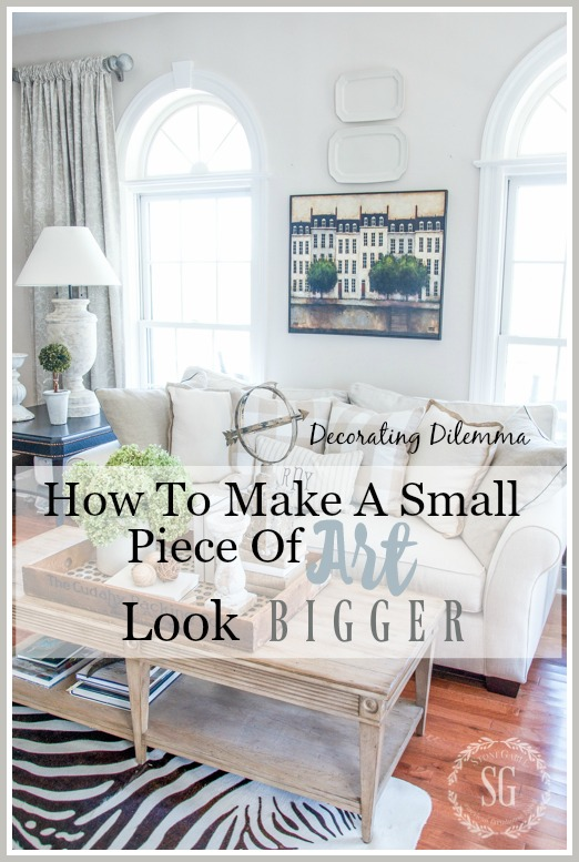 HOW TO MAKE A SMALL PIECE OF ART LOOK BIGGER-