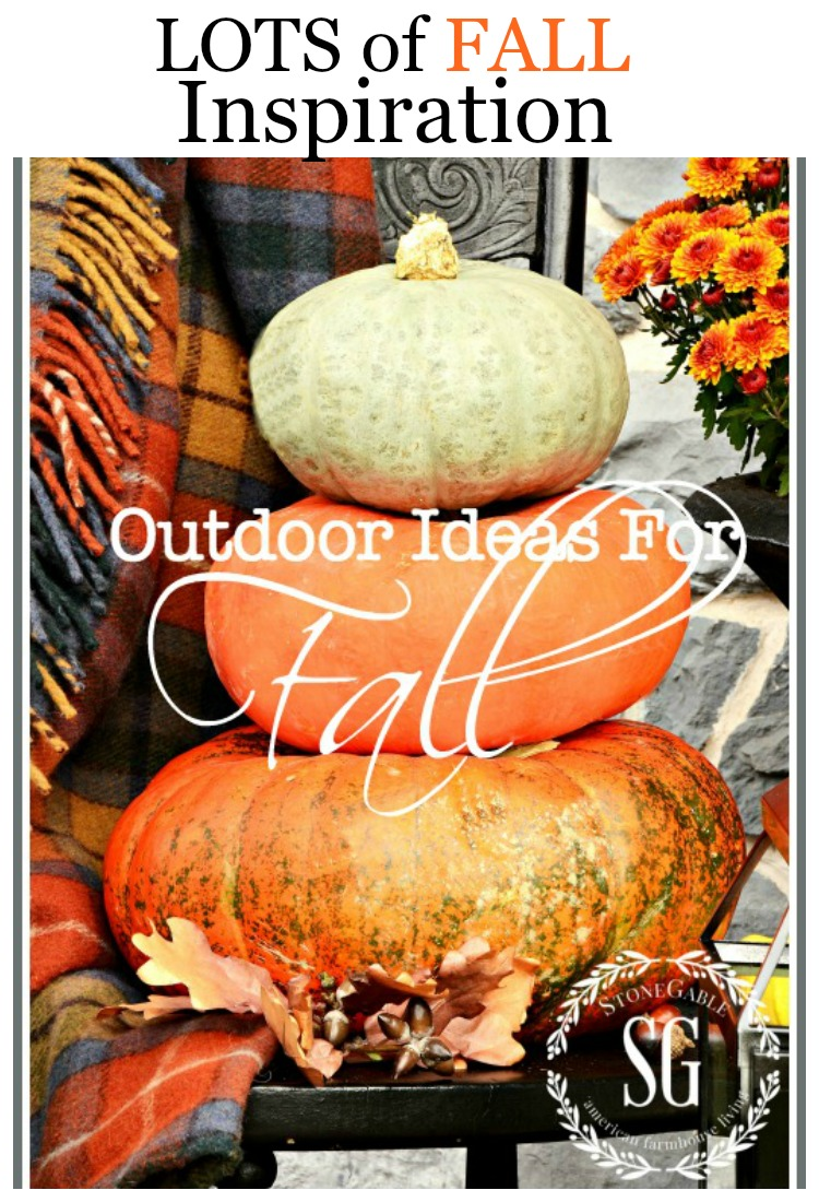 OUTDOOR IDEAS FOR FALL Lots of easy to do idea to decorate your outdoor areas for fall!