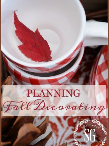 PLANNING FALL DECORATING