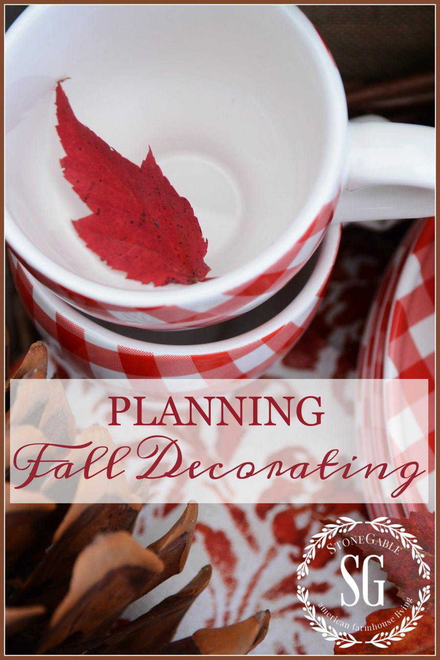 PLANNING FALL DECOR- Start planning now and be ready to decorate when fall rolls around!