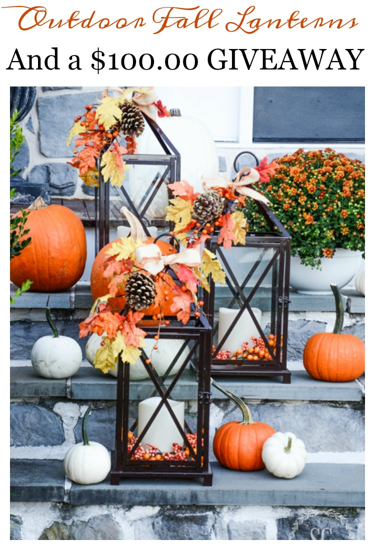 Outdoor Fall Decorating With Lanterns And A Giveaway Stonegable