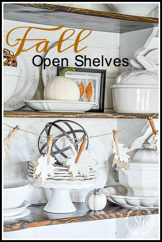 1fall-open-shelves-leaf-garland-stonegableblog