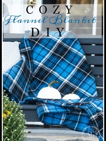 COZY FLANNEL BLANKET DIY