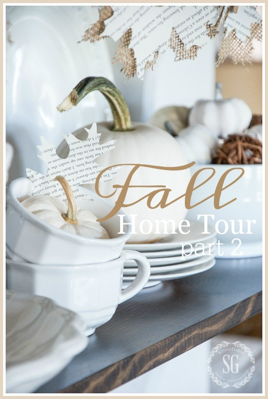 FALL HOME TOUR, PART 2- Showing off the softer side of Fall!