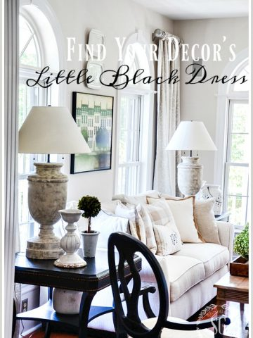 "FIND YOUR DECOR'S ""LITTLE BLACK DRESS"""