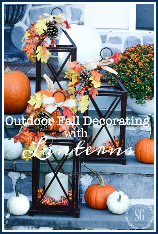 Outdoor Fall Decorating With Lanterns