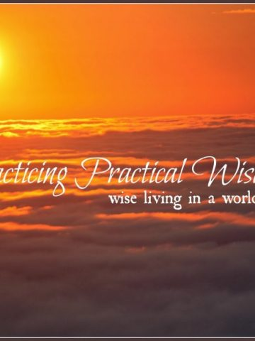 PRACTICING PRACTICAL WISDOM- WISE LIVING IN A WORLD OF FOOLS