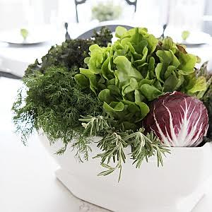 Fall vegetable centerpiece
