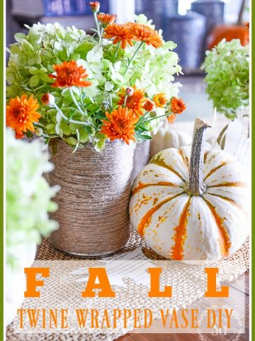 EASY FALL TWINE WRAPPED VASES