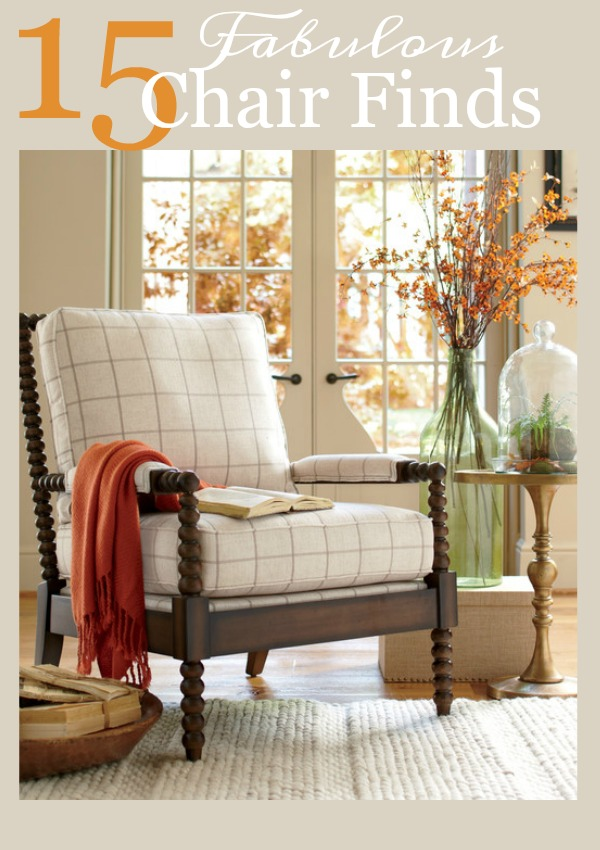 15 FABULOUS CHAIR FINDS- Amazing chairs don't have to be expensive! Here are some fabulous chairs at great prices!