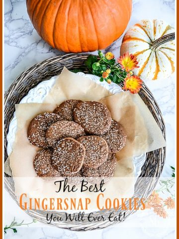 THE BEST GINGERSNAP COOKIES YOU WILL EVER EAT!