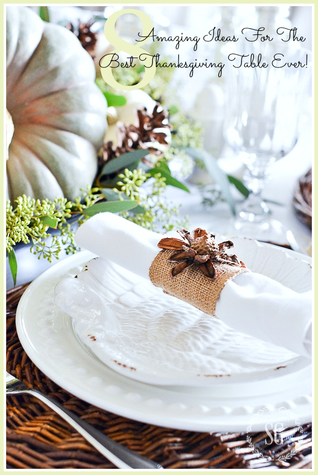 8 AMAZING IDEAS FOR THE BEST THANKSGIVING TABLE EVER!