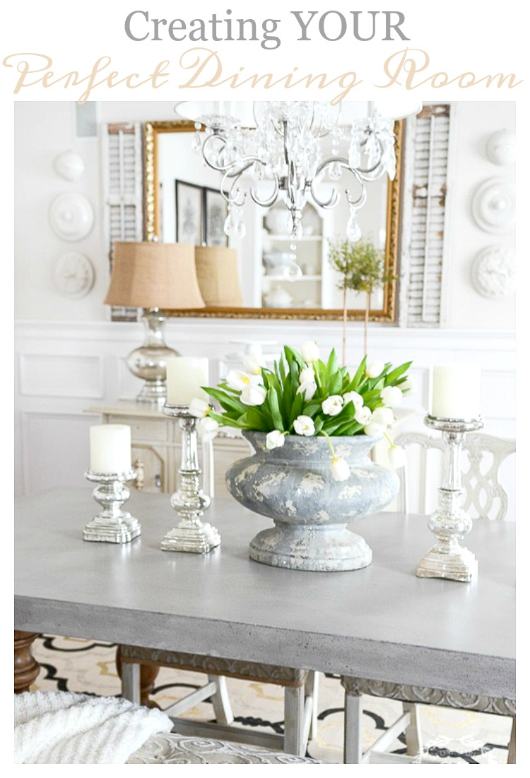 CREATING YOUR PERFECT DINING ROOM- Here are some sensible and creative ways to update and freshen up your dining room