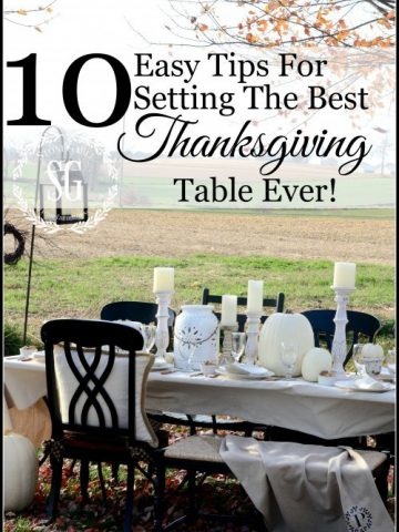 10 EASY TIPS FOR SETTING THE BEST THANKSGIVING TABLE EVER