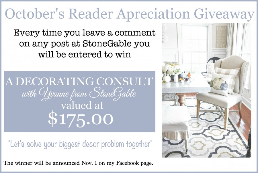 OCTOBER READER APPRECIATION GIVEAWAY