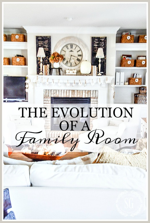 THE EVOLUTION OF A FAMILY ROOM- 5 Years of changes and updates in a family room.