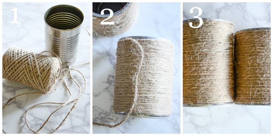EASY FALL TWINE WRAPPED VASE DIY COLLAGE OF HOW TO MAKE THEM