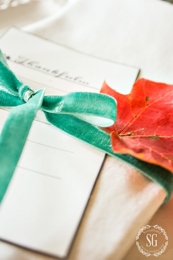 1-10-minute-thanksgiving-place-cards-leaf-bow-stonegableblog-2