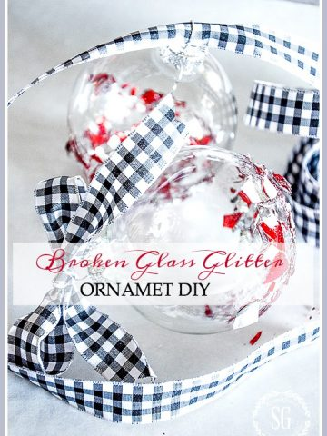 BROKEN GLASS ORNAMENTS- A creative way to use broken ornaments and create a new and beautiful ornament from the pieces.