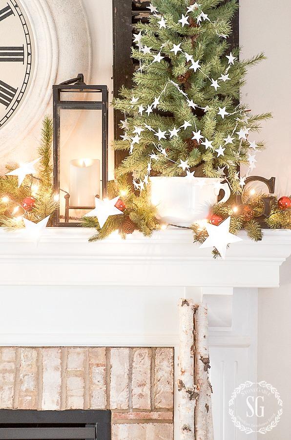 TREE INSPIRED CHRISTMAS MANTEL