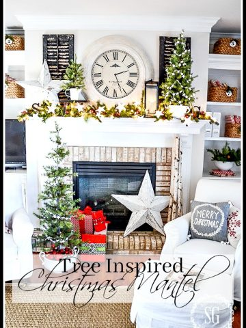 TREE INSPIRED CHRISTMAS MANTEL