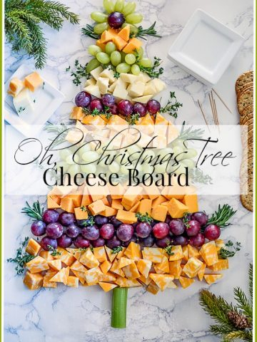OH,CHRISTMAS TREE CHEESEBOARD