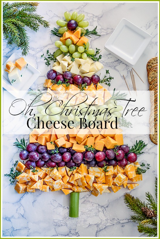 OH, CHRISTMAS TREE CHEESE BOARD- A beautiful easy to assemble WOW FACTOR appetizer.
