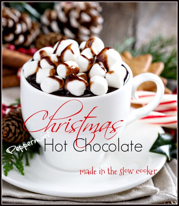 CHRISTMAS HOT CHOCOLATE- A scrumptious taste of chocolate and peppermint