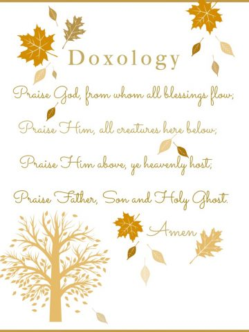 DOXOLOGY PRINTABLE