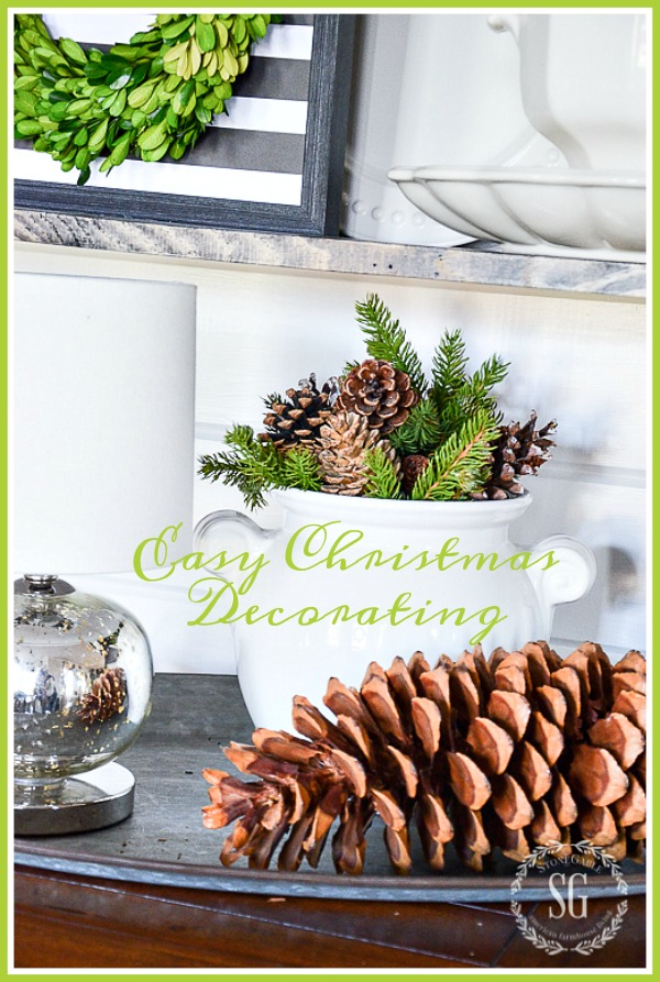 EASY CHRISTMAS DECORATING- Let's decorate beautifully and stress less! Yes, you can do it! I'll show you how!