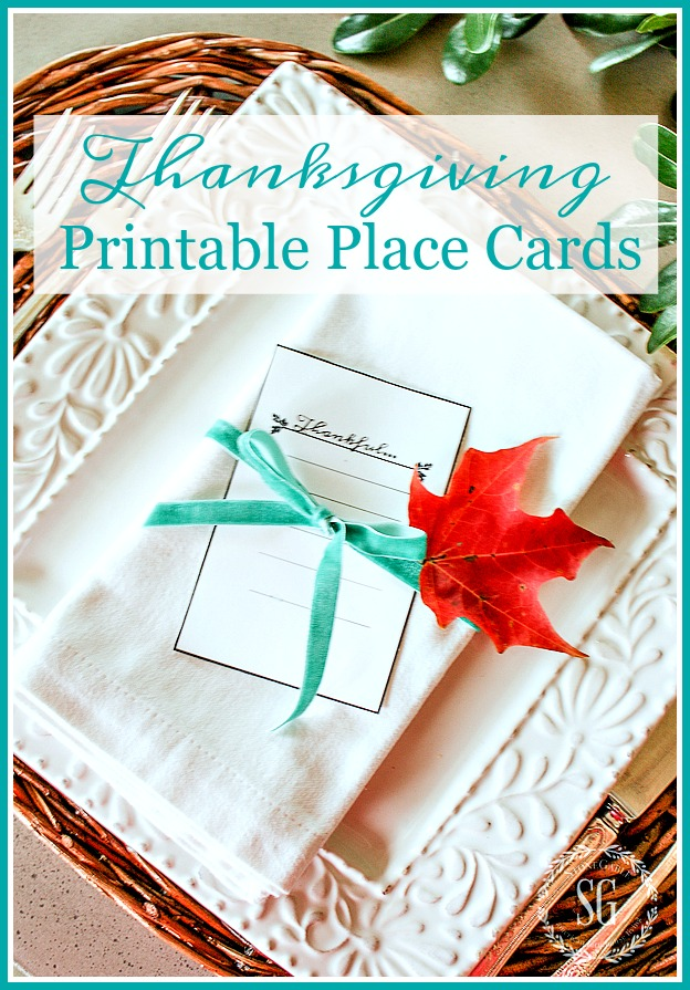 photo about Printable Thanksgiving Place Cards titled Grateful\
