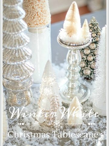 WINTER WHITE CHRISTMAS TABLESCAPE-Get lots of entertaining tips too!