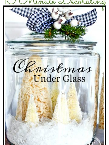CHRISTMAS UNDER GLASS- 10 MINUTE DECORATING